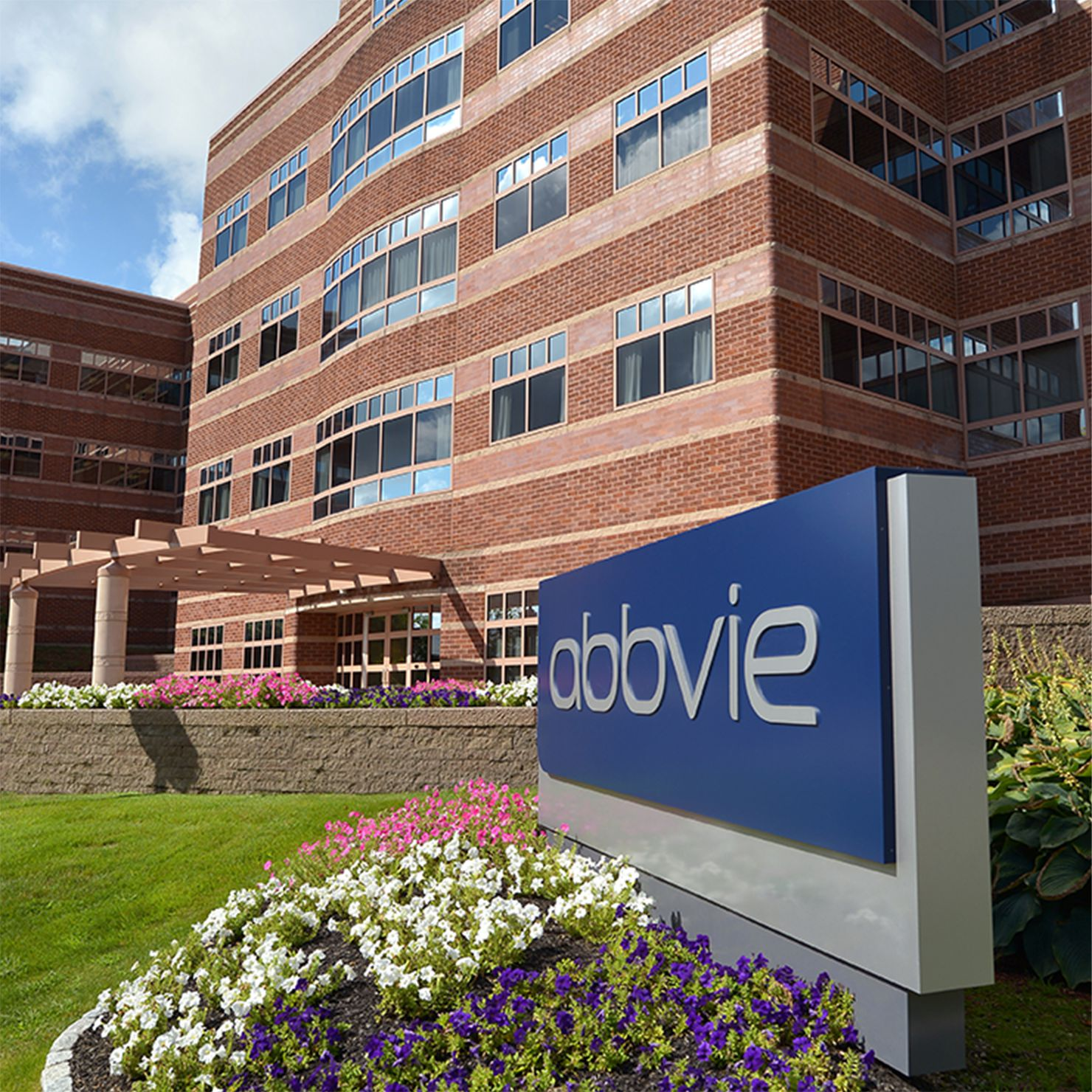 An AbbVie bioresearch center building.